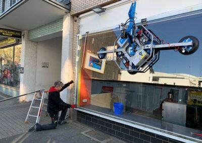 Reparaturverglasung Schaufenster